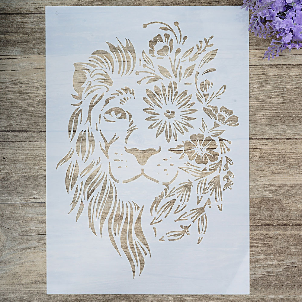 A4 A3 A2 Size DIY Craft Layering Lion Stencil For Wall Painting Scrapbooking Stamping Stamp Album Decorative Embossing Paper Card