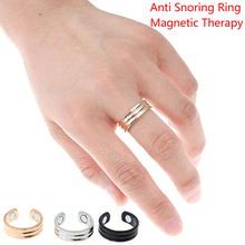 1pcs Acupressure Anti Snoring Ring Titanium Alloy Treatment Breath Sleeping Device New