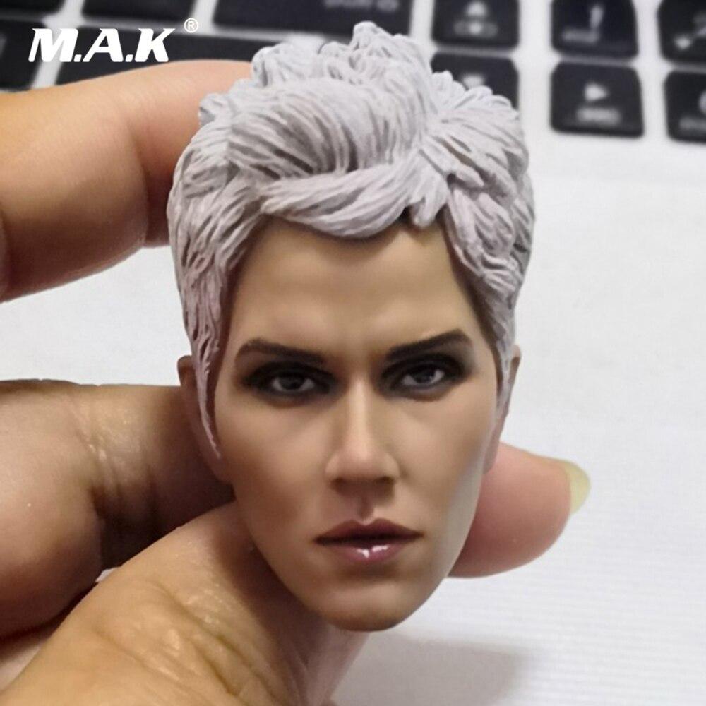 In Stock 1/6 Female Figure Accessory American Comics Super Woman Storm Head Sculp Hard White Hair Accessory Model For 12'' Body