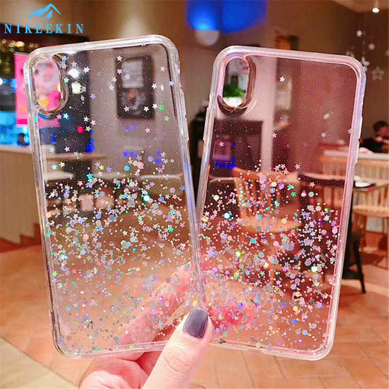 QPOLLY Compatible avec Xiaomi Redmi 7A Coque avec Anneau Support Brillante Paillettes Bling Glitter Strass Diamant Ultra Mince Souple TPU Silicone Gel Bumper Coque Housse Etui,Violet