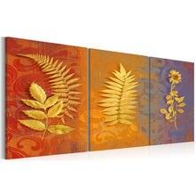 Минимализм набор золотых цветов настенное искусство цветущие