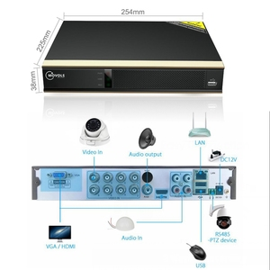 Image 2 - Movols 8CH 1080P AI CCTV 카메라 시스템 IR 야외 비바람에 견디는 보안 카메라 H.265 DVR 키트 야외 비디오 감시 시스템
