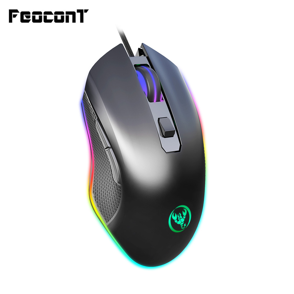 Wired Mouse RGB Contest Gaming Mouse Four Archives Adjustable Achieve 6400dpi 7 Buttons Mice Game For PC Laptop Office Game
