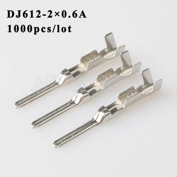 DJ612-2 0.6A 1000PCS plug terminal Male female wire connector Plugs socket Fuse box Wire harness Soft Jacket car terminal plug