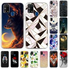 Krzemu skrzynka dla Samsung M31 przypadki TPU telefon zderzak dla Samsung Galaxy M31 SM-M315F SM-M315F 6 4 cal śliczne malowane Coque tanie tanio Bolomboy CN (pochodzenie) Częściowo przysłonięte etui TPU Phone Bumper For Samsung Galaxy M31 SM-M315F SM-M315F W stylu rysunkowym
