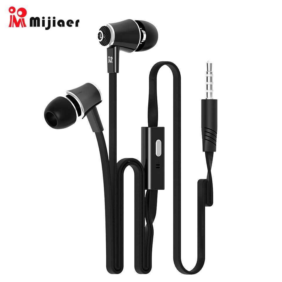 Langsdom Mijiaer JM21 In ear Earphones For Phone iPhone Huawei Xiaomi Headsets Wired Earphone Earbuds Earpiece fone de ouvido in Phone Earphones Headphones from Consumer Electronics