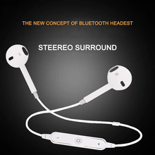 S6 Sport Wireless Headphone Neckband Line-controlled Bluetooth Earphone with Mic