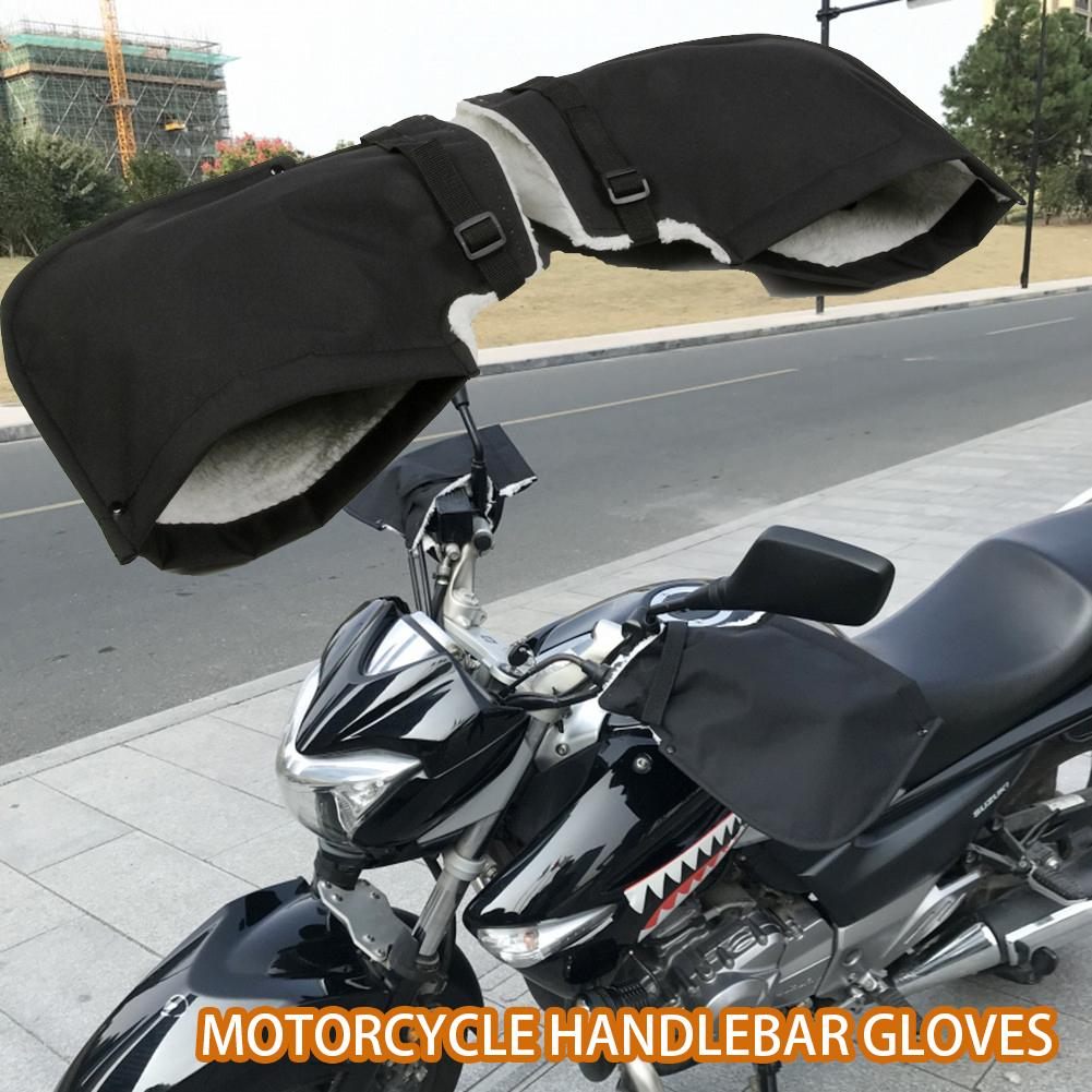 Motorcycle Handlebar Gloves Windproof Warm Velvet Gloves Waterproof And No Air Leakage For Cold Winter