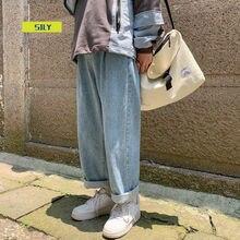 2021 осень новинка мужчины% 27 джинсы прямые повседневные джинсы мужские 2020 корейский коллаж хип хоп джинсы женщина пара деним брюки
