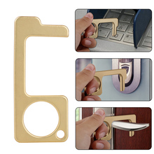 2 In 1 Antimicrobial EDC Door Opener Closer Beer Opener Touchless  Press Elevator Tool Door Handle Key with Key Ring for Office adjustable key press press variable attenuator 5w dc 2 5ghz 0 90db 8 key my8 10