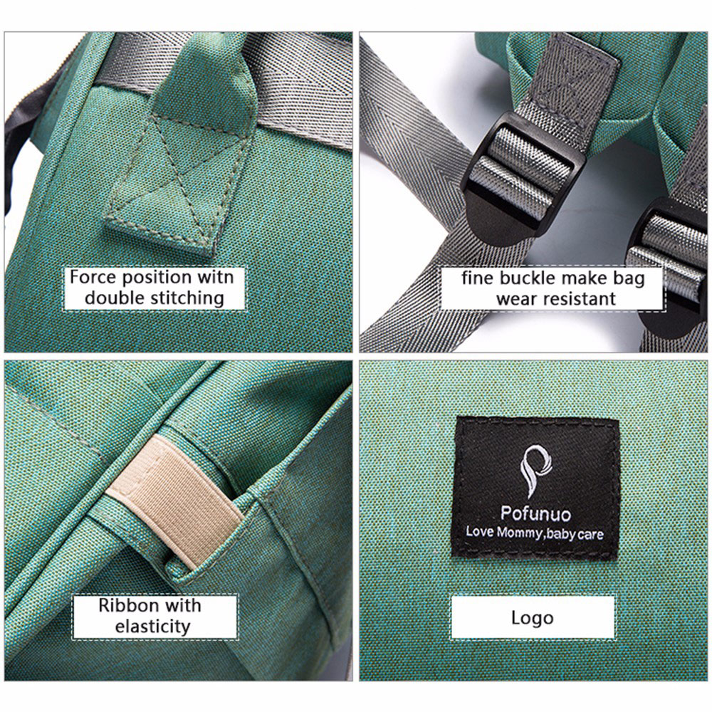 H0d2761ad938d419691cc9c72931bb885E Diaper Bag With USB Interface Large Capacity Travel Backpack Nursing Handbag Waterproof Nappy Bag Kits Mummy Maternity Baby Bag