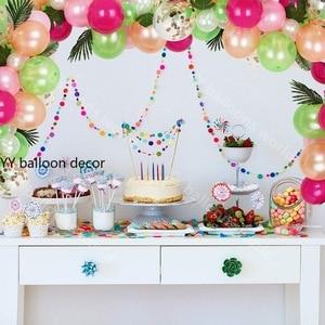 Image 4 - 81 個トロピカルパーティー風船アーチ花輪装飾キットホットピンクゴールド白風船のためハワイ誕生日結婚