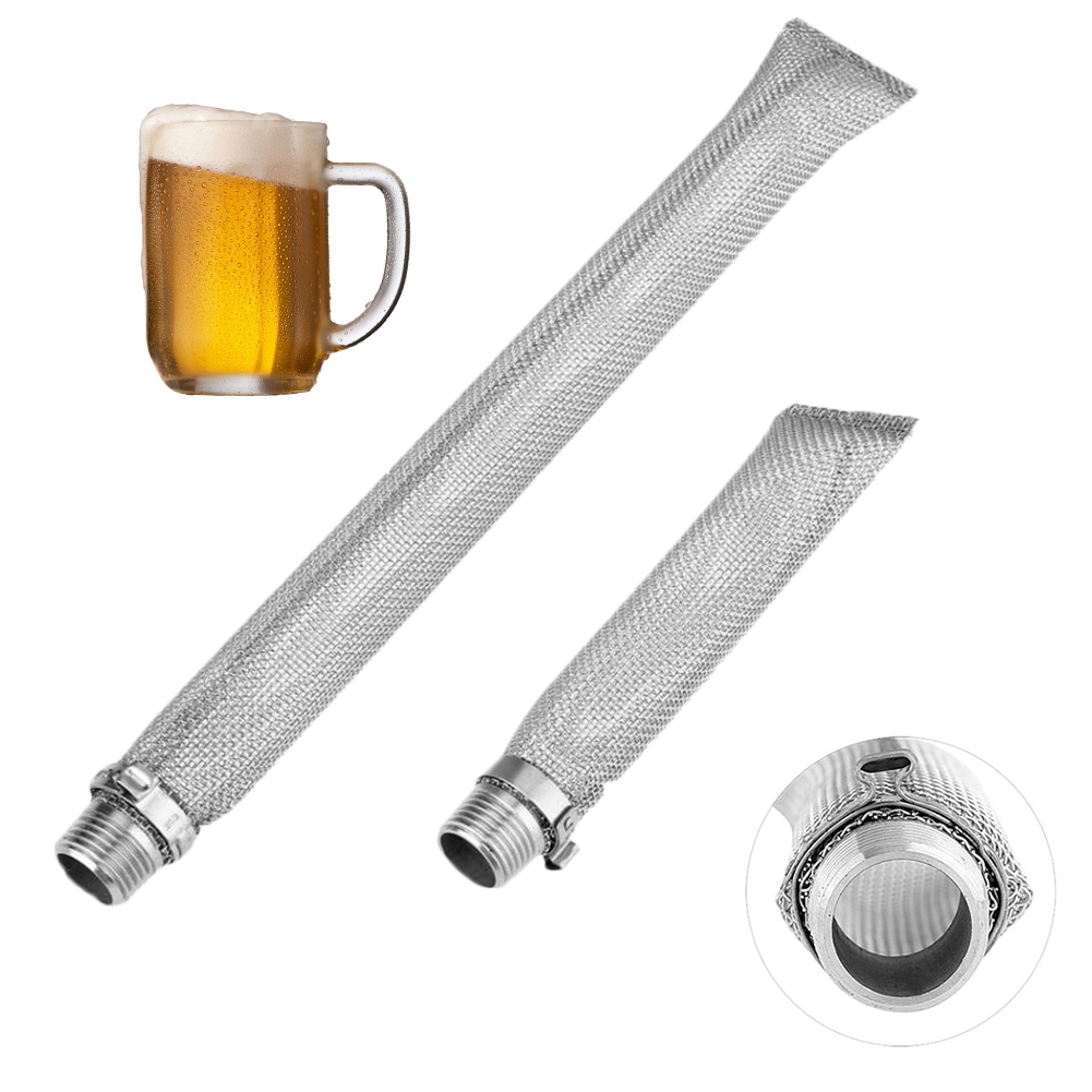 Brewing Bazooka Screen Mesh Thread Spigot Connect Home Tools Wine Mash Tun Stainless Steel Reusable Strainer Beer Filter Kettle
