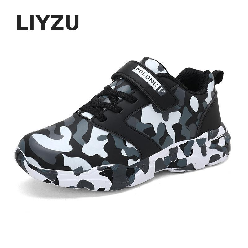 Kids Shoes Boys Sneakers Teenage Girls Casual Shoes Fashion Camouflage Children Sports Shoes PU Waterproof Student Trainers New