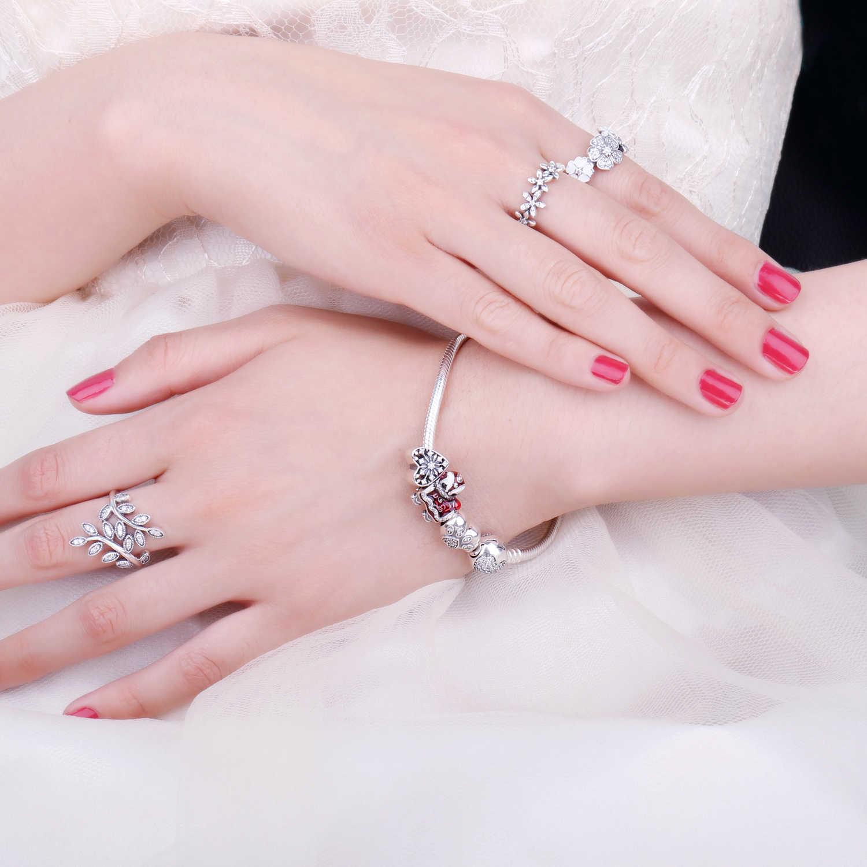 Jewelrypalace 925 пробы серебро Винтаж Eagar любовь кубические циркониевые бусины Подвески Fit Браслеты-Подарки для Для женщин Модные украшения