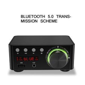 TiOODRE Bluetooth Power Amplifier Mini HIFI Bluetooth Amplifier Digital Audio Amplifier Stereo Amplifier Support USB TF Card