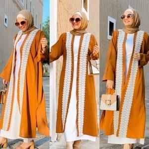 2020 New Fashion Style Muslim Women Plus Size Long Abaya  European Clothing  Abayas for Women