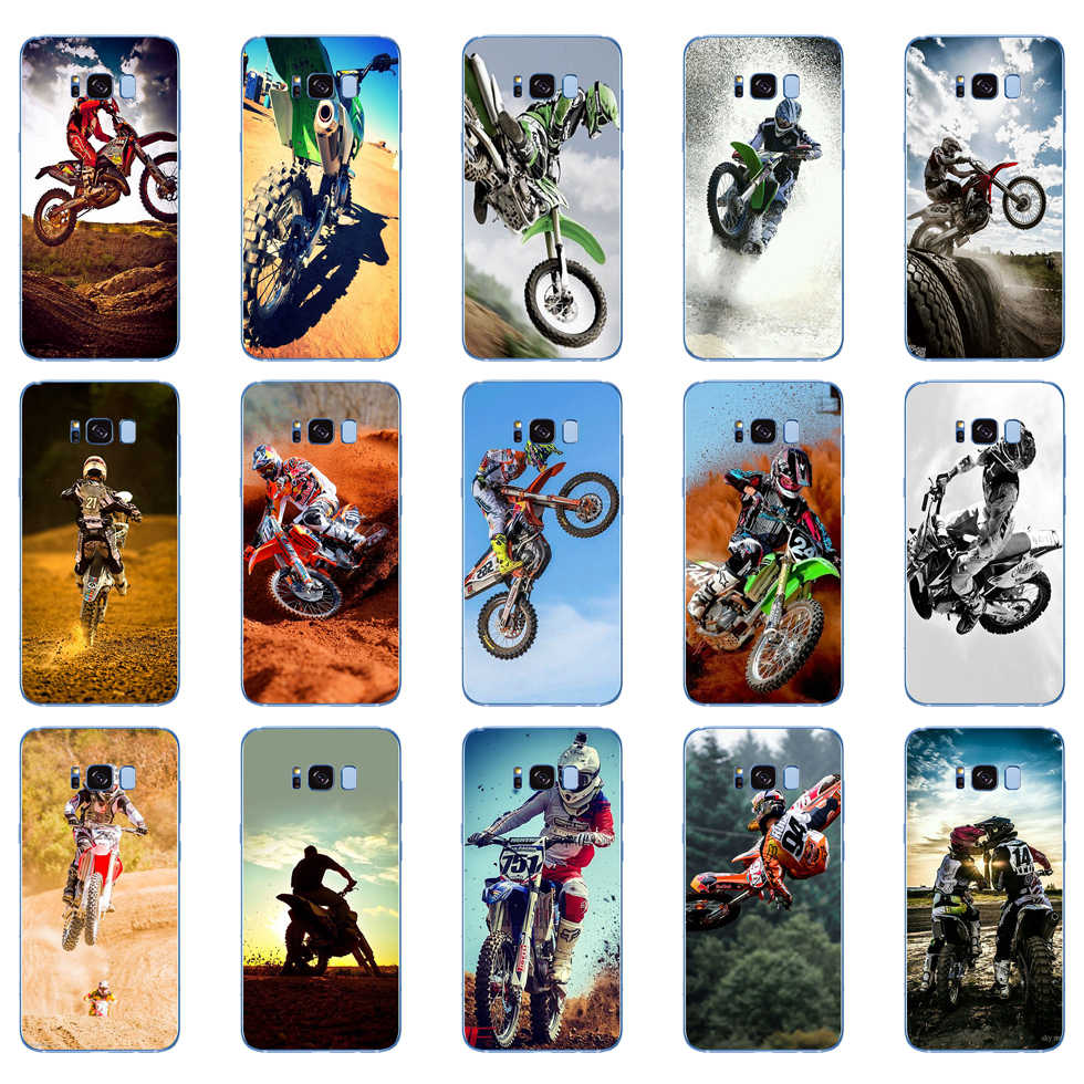 49DD Motocross Moto Cross Dirtbikes Soft Silicone Cover Case Voor Samsung Galaxy S6 S7 Rand S8 S9 S10 Plus A70 a50 Case