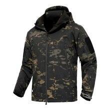 Mege pele de tubarão escudo macio militar tático jaqueta masculina à prova dmulticágua do exército velo roupas camuflagem multicam windbreakers 4xl
