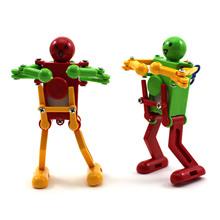 2019 zabawka robot taniec Wind Up mechaniczna kontroli dla dzieci z tworzywa sztucznego słodkie tanie tanio Chineon Model Wyroby gotowe Unisex Pierwsze wydanie 5-7 lat Children Funny Toy Zapas rzeczy Roboty