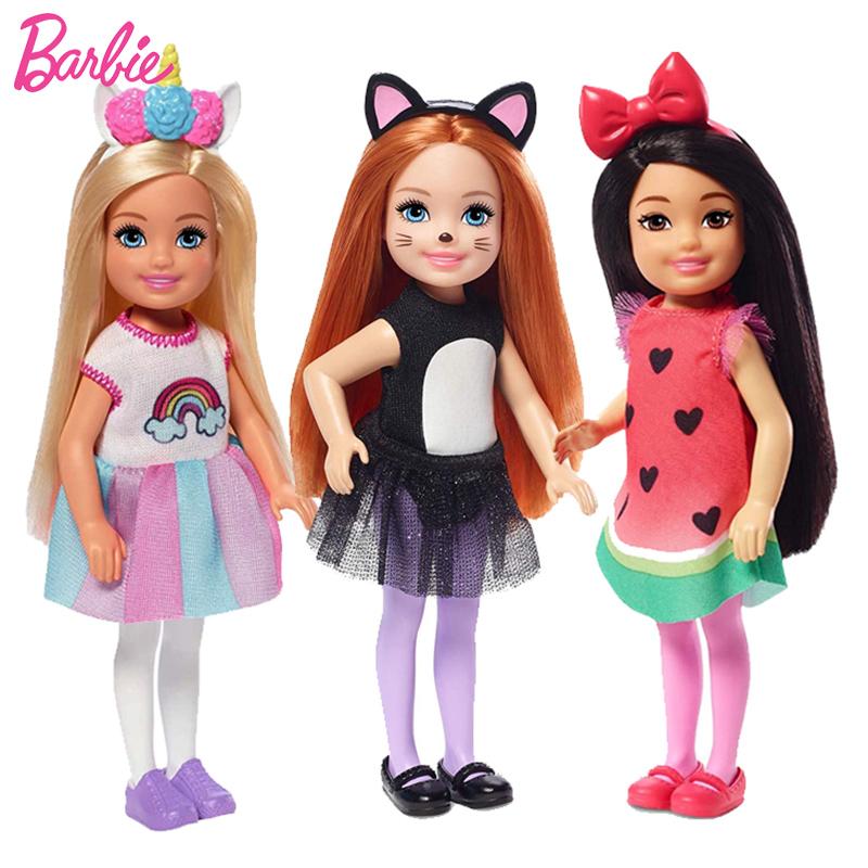 Оригинальная кукла «Челси» Барби для детской кровати с радужной
