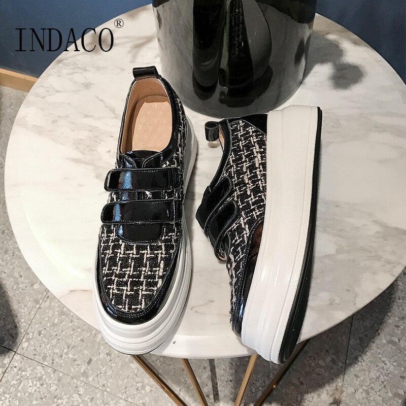 2019 kobiet buty kobiet Sneakers obuwie na co dzień buty wulkanizowane 5.5cm w Damskie buty z gumową podeszwą od Buty na  Grupa 1