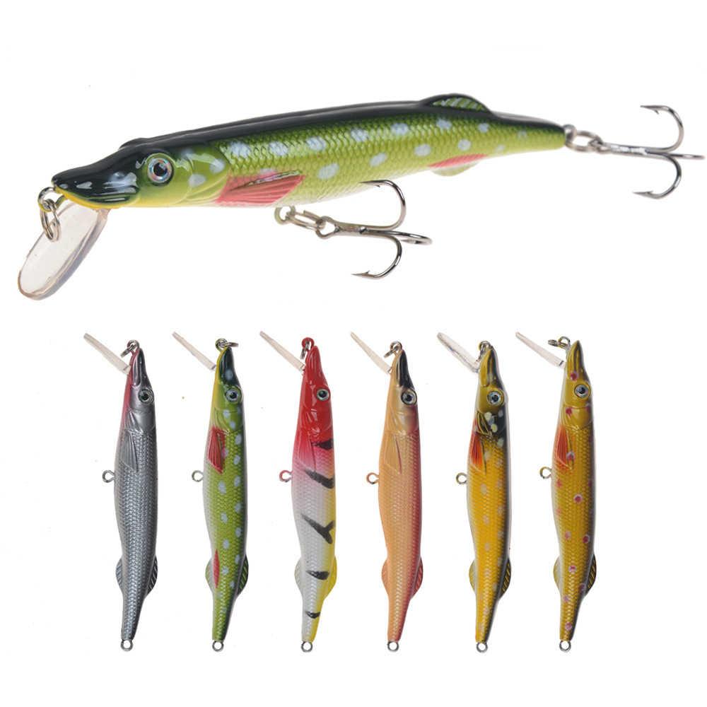 6pcs 15cm//15g Trolling Bait Minnow Fishing Lure Bass Crankbait Tackle Wobbler