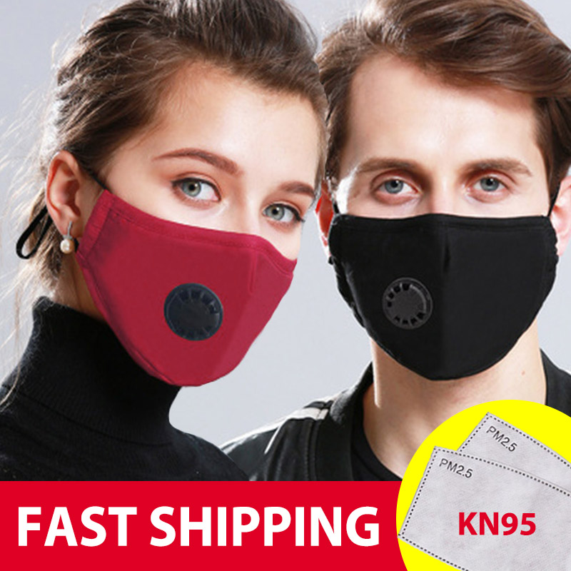 Dust PM2.5 Mouth Mask N95 With 2 Replaceable KN95 Filters Anti Pollution Breathable Face Mask Washable Respirator Mouth-muffle