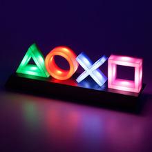 Contrôle vocal jeu icône lumière PS4 humeur Flash lampe acrylique atmosphère néon signe Commercial éclairage Club décoration murale