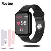 Bluetooth Smartwatch spor İzle B57 kol saati kan basıncı izle erkekler kadınlar için su geçirmez saatler pedometre akıllı bileklik
