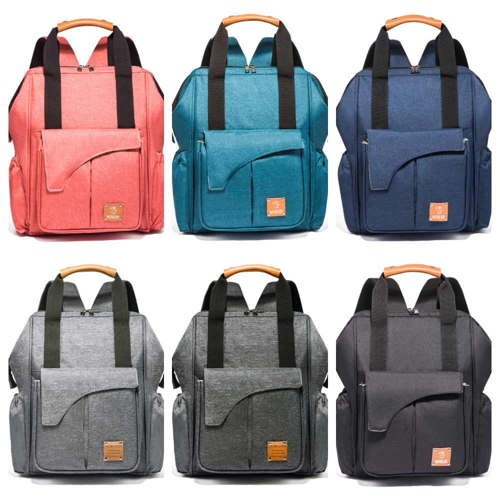 Fashion Designed Solid Diaper Bag Multi-functional Mommy Storage Diaper Bag Oxford Cloth WOMEN Backpack Stroller Bag Baby Care