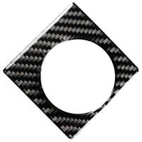 Adesivo preto da fibra do carbono do painel giratório do botão para lexus nx200 200 t 300 h 2015 2019 adesivos automotivos internos     -
