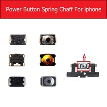 Кнопка включения громкости для iPhone 4, 4S, 5, 5S, 5c, SE, 6, 6 S, 7, 8 Plus, клавишная клавиатура из микро пружинной оболочки, кнопка включения питания, гибкий кабель