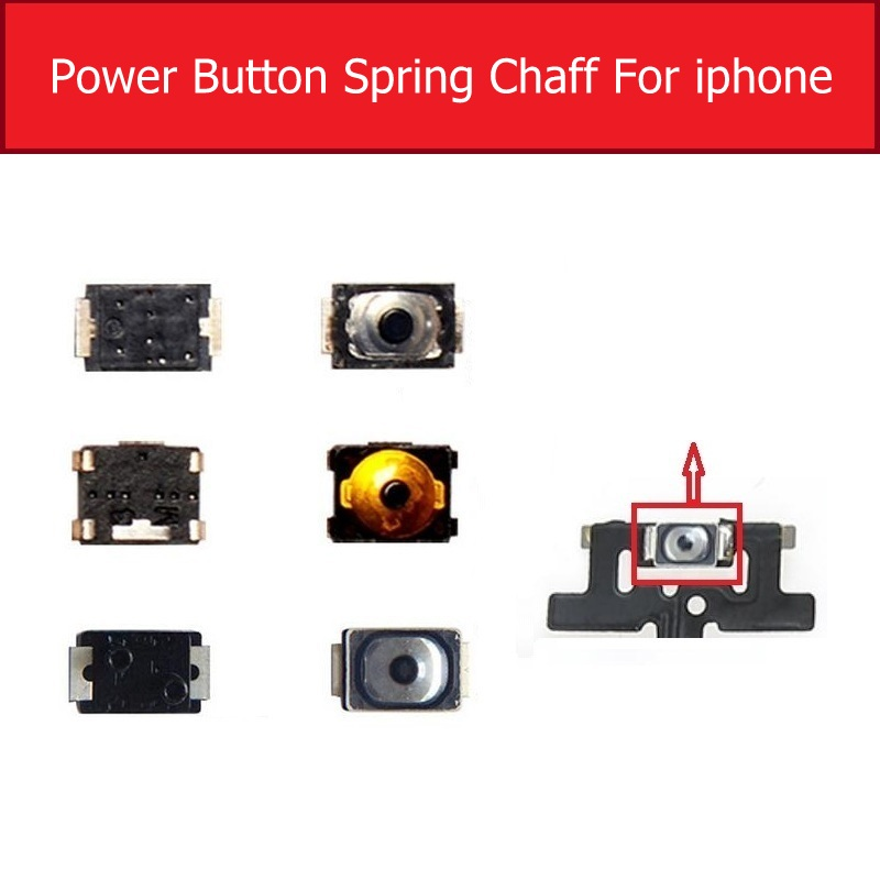 Volume Power Button Switch For IPhone 4 4s 5 5s 5c SE 6 6S 7 8 Plus Key Keypad Of Micro Spring Shell On Power Button Flex Cable
