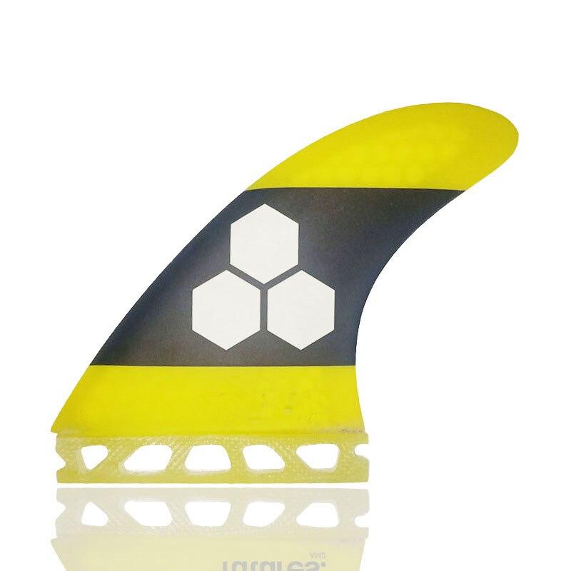 Future AM2 3-Fin Techflex большая желтая доска для серфинга Fins Tri fin Набор сток распродажа серфинга плавники carbonfiber fin