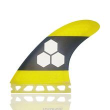 Future AM2 3-Fin Techflex duże żółte płetwy do deski surfingowej Tri fin zestaw wyprzedaż wyprzedaż surfing surfingowe płetwy carbonfiber fin tanie tanio Unisex Fut-AM2-yellow