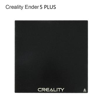 Ultrabase 377*370*4MM Ender 5 PLUS ulepszona płyta do zabudowy ze szkła hartowanego powierzchnia drukarska do części drukarki Ender-5 Plus 3D tanie i dobre opinie CREALITY 3D CN (pochodzenie) Płytka szklana 377X370MM