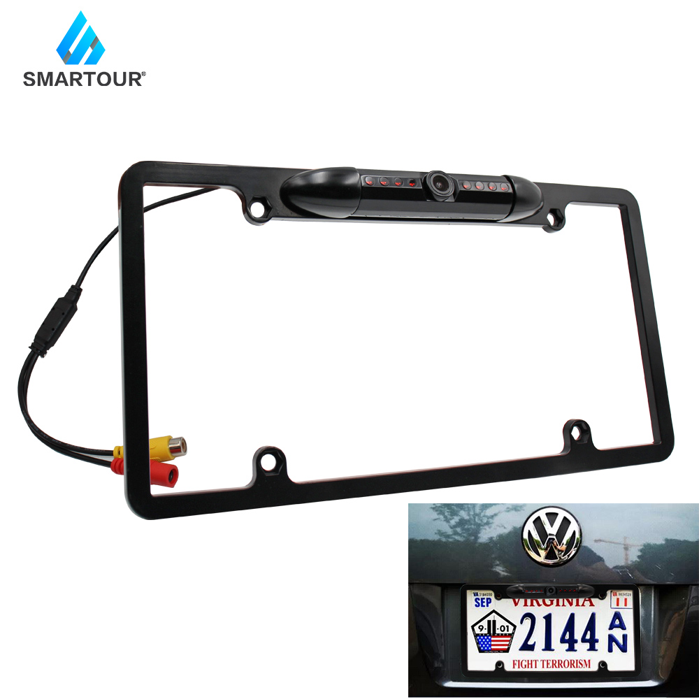 Smartour Auto Parktronic EU Car License Plate Frame Wireless HD Night Vision Rear View Camera Reverse Rear Camera With IR Light
