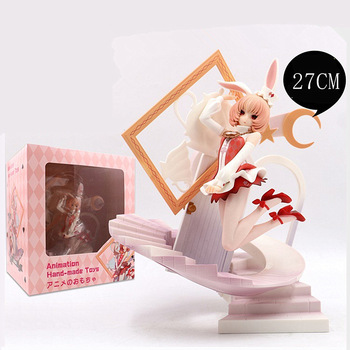 27cm Big Size Anime Figure Myethos FairyTale Another Alice White Bunny Girl Action Figure Fairy Series Collection Model toy doll