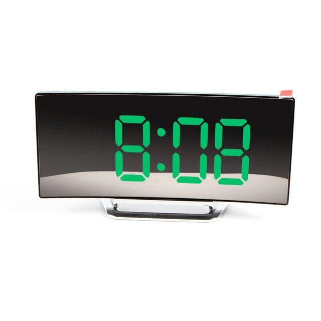 Digital Alarm Clock 7 Inch Curved Dimmable LED Sn Electronic Digital desktop Clock for Kids Bedroom Large Number Table Clock 2