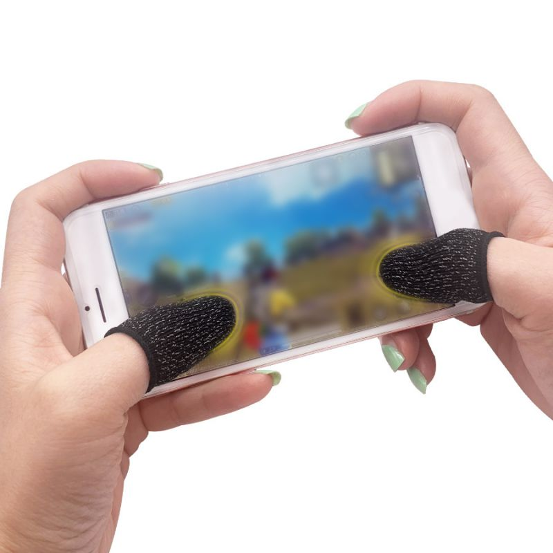 Hot Top 1 Pair Breathable Mobile Game Controller Finger Sleeve Touch Trigger For Fortnite PUBG Mobile Rules Of Survival Gatillos