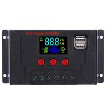 Solar Power Controller 20A 10A Battery Charger LCD Dual Color Screen for Lithium / Iron-Lithium/ Lead-Acid Battery with USB 3 2v charger 3 6v phosphoric acid iron lithium charger large current iron and lithium charging tp5000
