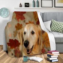 Флисовое одеяло с забавной собакой 3d принтом для ношения взрослых