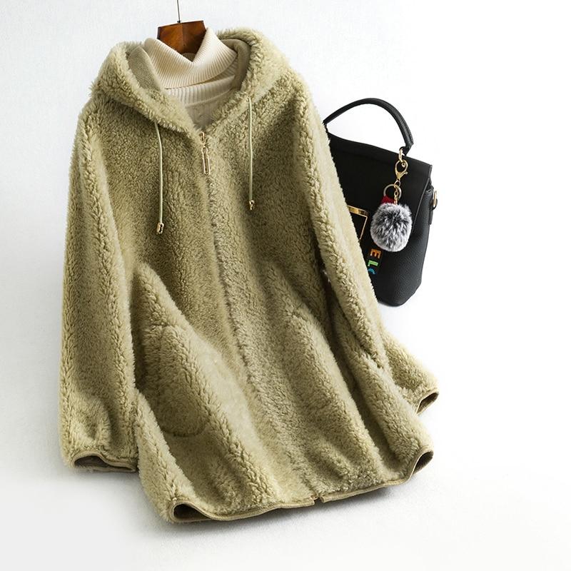 Real Fur Coat 100% Wool Jacket Autumn Winter Coat Women Clothes 2020 Korean Vintage Sheep Shearling Suede Lining Tops ZT3759