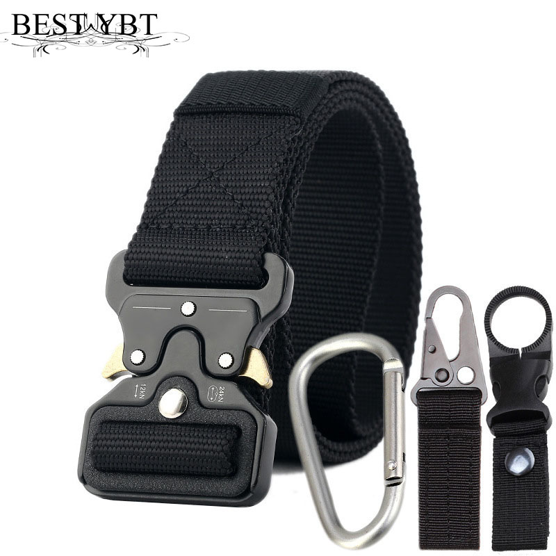 Best YBT Nylon Belt Alloy Insert Buckle Belt Tactical Military High Quality Training Multifunctional Outdoor Sport Hook New Belt