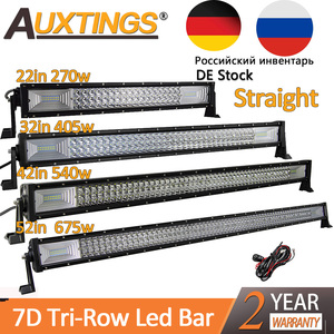 "Image 1 - Auxtings 22"" 32"" 42"" 52""inch Led Light Bar Work Light 7D led bar 3 Row 4x4 Truck ATV Car Offroad Driving Straight Light Bar"