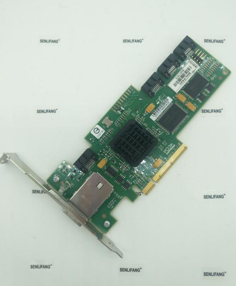 LSI SAS 3444E-R 8 Port HBA JBOD SFF8088 SATA X4 MiniSAS 3Gb PCI-E X8 Controller Card 95%NEW