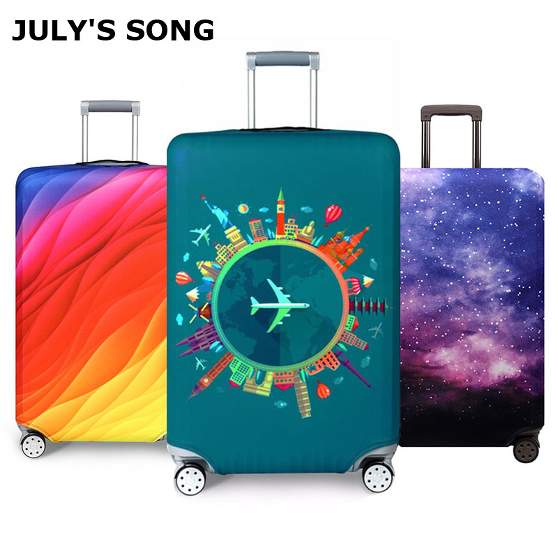 Thicker Travel Luggage Protective Cover Suitcase Case Travel Accessorie Baggag Elastic Luggage Cover Apply to 18 32inch Suitcase luggage dust cover suitcase protective coverelastic luggage - AliExpress