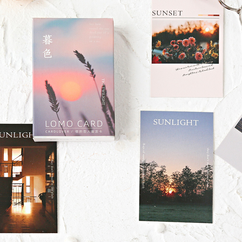 28 Pcs/Set The Twilight Series Lomo Card Mini Postcard Beautiful Sunset Greeting Card Christmas And New Year Gifts