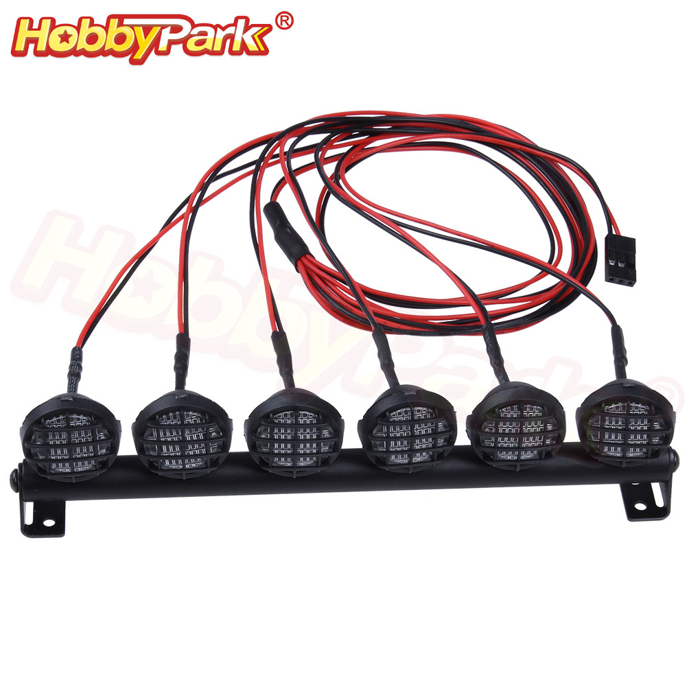 Multi-Function LED Light Bar for 1/10 RC Crawler Truck Traxxas TRX-4 TRX4 Slash 2WD Axial SCX10 90046 Jeep Wrangler RC4WD D90(China)